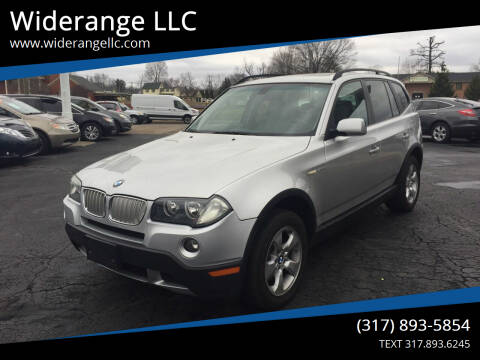 2008 BMW X3 for sale at Widerange LLC in Greenwood IN
