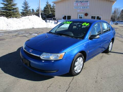 2004 Saturn Ion for sale at Richfield Car Co in Hubertus WI