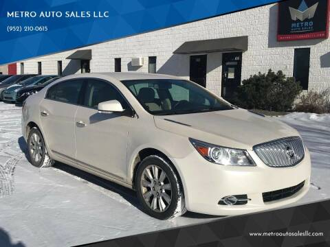 2012 Buick LaCrosse for sale at METRO AUTO SALES LLC in Blaine MN
