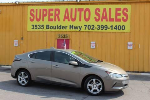 2017 Chevrolet Volt for sale at Super Auto Sales in Las Vegas NV