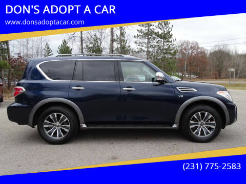 2020 Nissan Armada for sale at DON'S ADOPT A CAR in Cadillac MI