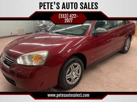 2006 Chevrolet Malibu for sale at PETE'S AUTO SALES - Middletown in Middletown OH