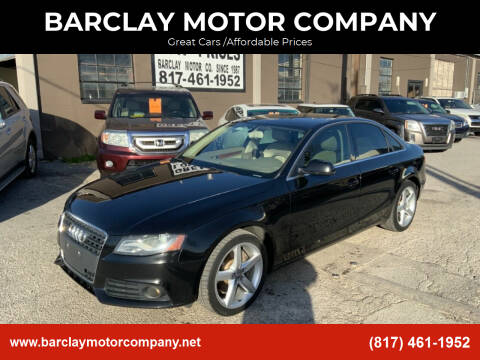 2011 Audi A4 for sale at BARCLAY MOTOR COMPANY in Arlington TX
