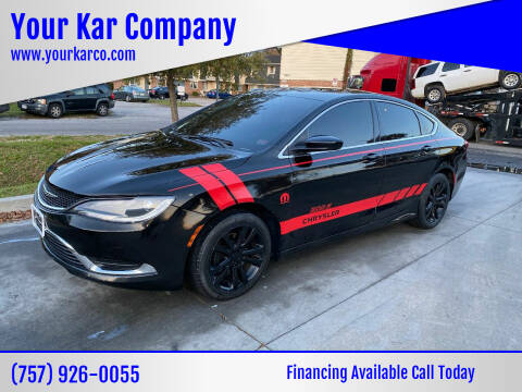 2016 Chrysler 200 for sale at Your Kar Company in Norfolk VA