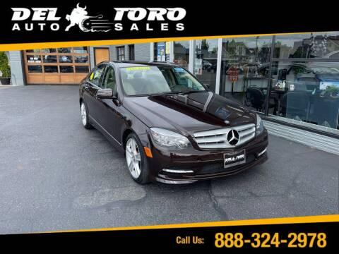 2011 Mercedes-Benz C-Class for sale at DEL TORO AUTO SALES in Auburn WA