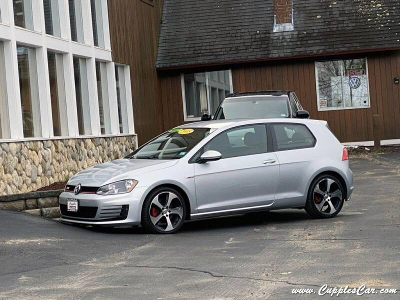 2015 Volkswagen Golf GTI for sale at Cupples Car Company in Belmont NH