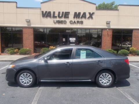 2012 Toyota Camry for sale at ValueMax Used Cars in Greenville NC