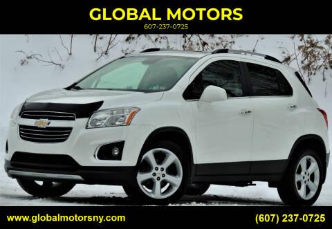 2015 Chevrolet Trax for sale at GLOBAL MOTORS in Binghamton NY