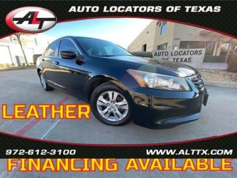 2012 Honda Accord for sale at AUTO LOCATORS OF TEXAS in Plano TX