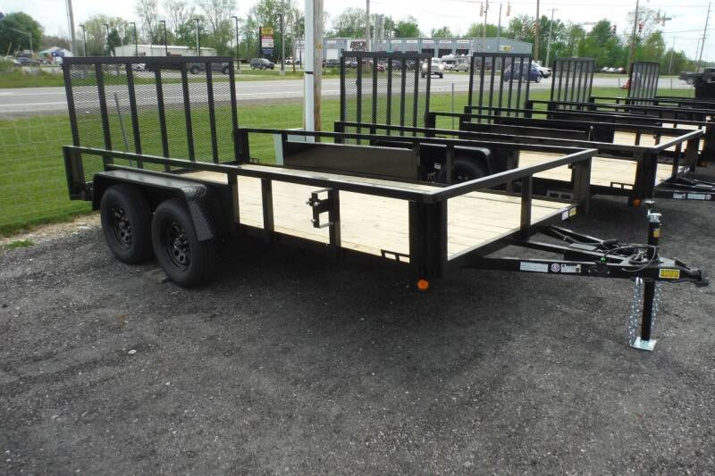 2022 Quality Steel 82x14 landscape tandem for sale at Bryan Auto Depot in Bryan OH