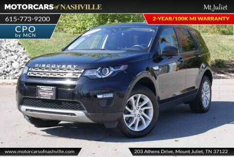2018 Land Rover Discovery Sport for sale at MotorCars of Nashville in Mount Juliet TN