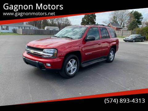 2004 Chevrolet TrailBlazer for sale at Gagnon  Motors - Gagnon Motors in Akron IN