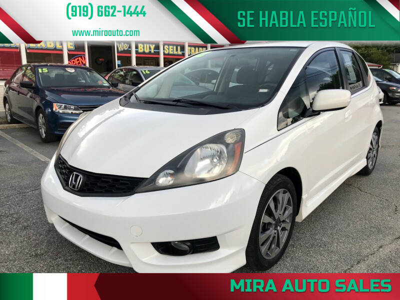 2012 Honda Fit for sale at Mira Auto Sales in Raleigh NC