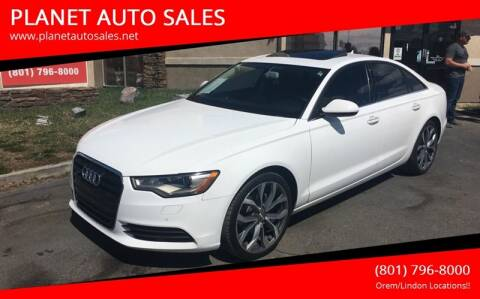2013 Audi A6 for sale at PLANET AUTO SALES in Lindon UT