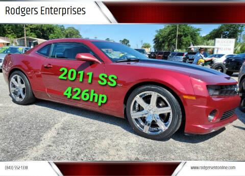 2011 Chevrolet Camaro for sale at Rodgers Enterprises in North Charleston SC