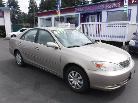2002 Toyota Camry for sale at 777 Auto Sales and Service in Tacoma WA