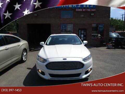 2013 Ford Fusion for sale at Twin's Auto Center Inc. in Detroit MI