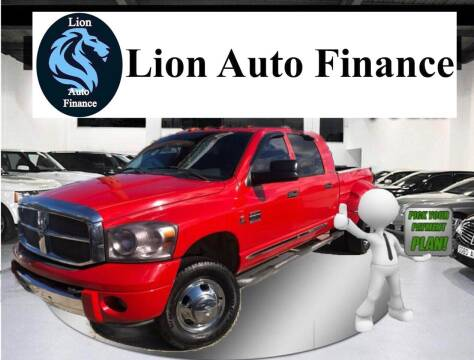 2007 Dodge Ram Pickup 3500 for sale at Lion Auto Finance in Houston TX