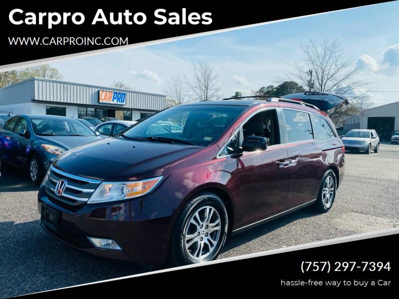 2012 Honda Odyssey for sale at Carpro Auto Sales in Chesapeake VA