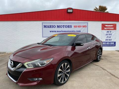 2016 Nissan Maxima for sale at Mario Motors in South Houston TX