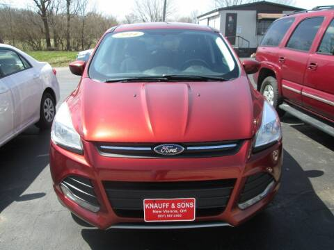 2014 Ford Escape for sale at Knauff & Sons Motor Sales in New Vienna OH