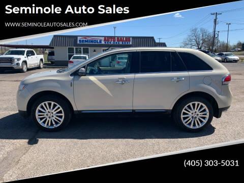 2014 Lincoln MKX for sale at Seminole Auto Sales in Seminole OK