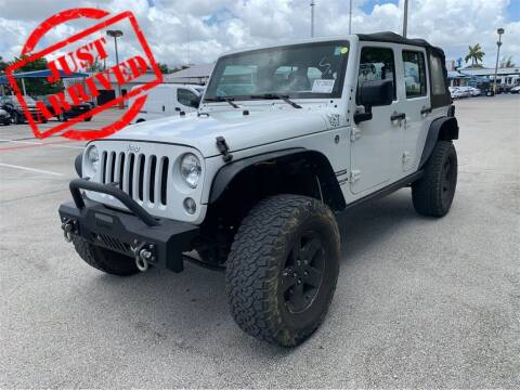 2017 Jeep Wrangler Unlimited for sale at Florida Fine Cars - West Palm Beach in West Palm Beach FL