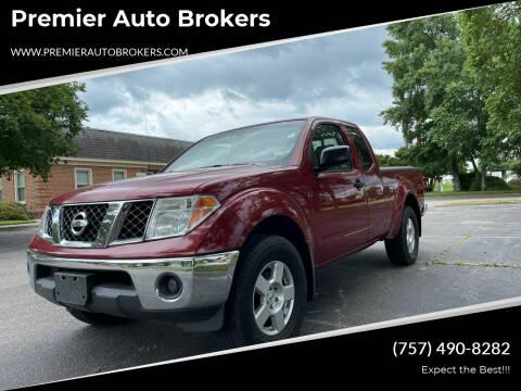 2007 Nissan Frontier for sale at Premier Auto Brokers in Virginia Beach VA