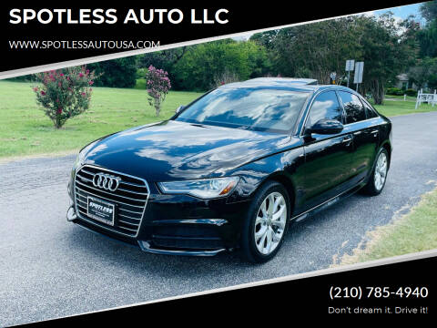 2017 Audi A6 for sale at SPOTLESS AUTO LLC in San Antonio TX