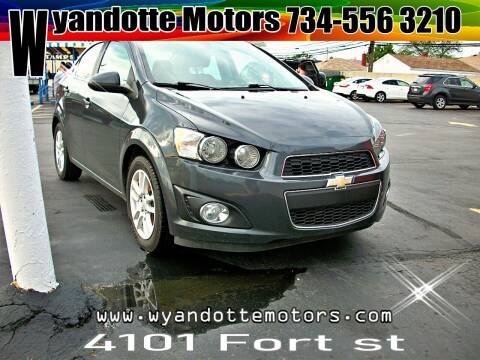 2015 Chevrolet Sonic for sale at Wyandotte Motors in Wyandotte MI