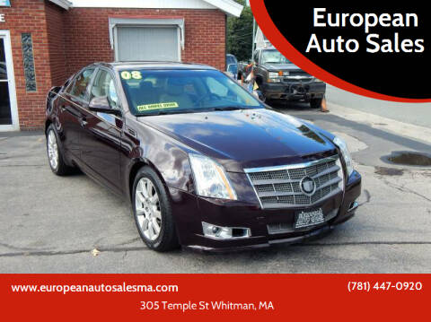 2008 Cadillac CTS for sale at European Auto Sales in Whitman MA