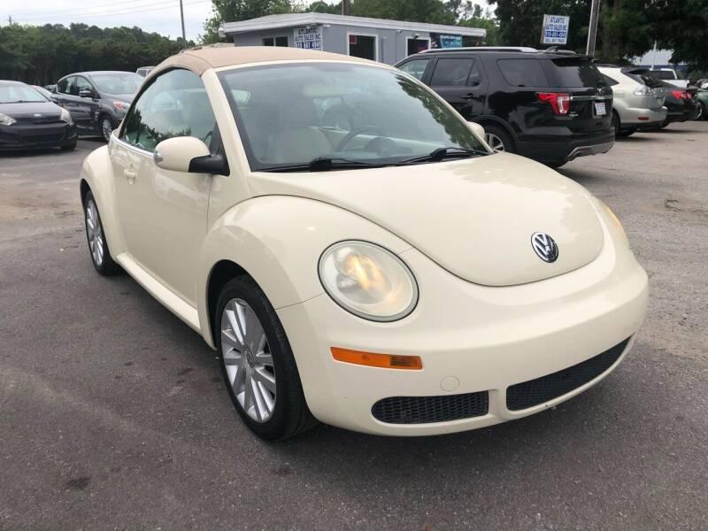 2008 Volkswagen New Beetle Convertible for sale at Atlantic Auto Sales in Garner NC