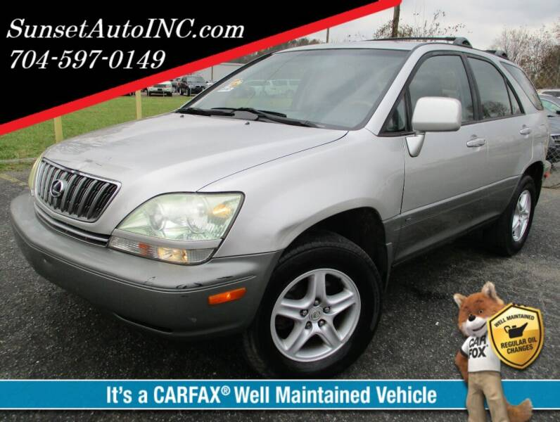2002 Lexus RX 300 for sale at Sunset Auto in Charlotte NC
