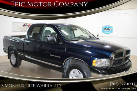 2004 Dodge Ram Pickup 1500 for sale at Epic Motor Company in Chantilly VA