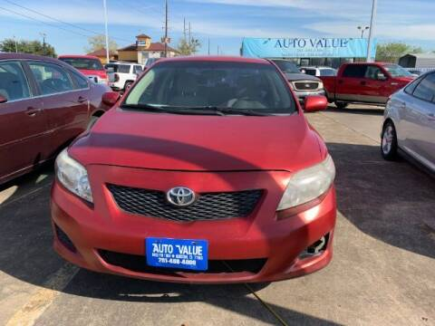 2009 Toyota Corolla for sale at AUTO VALUE FINANCE INC in Stafford TX