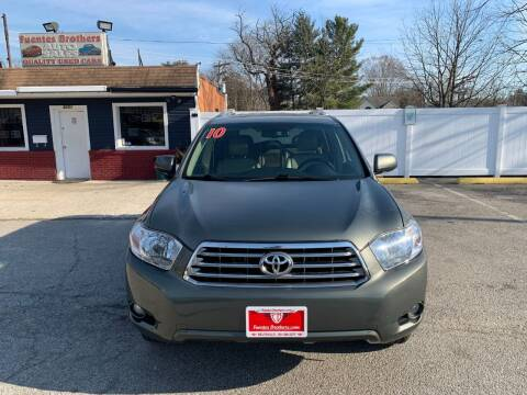 2010 Toyota Highlander for sale at Fuentes Brothers Auto Sales in Jessup MD