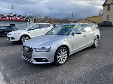 2013 Audi A4 for sale at Sisson Pre-Owned in Uniontown PA