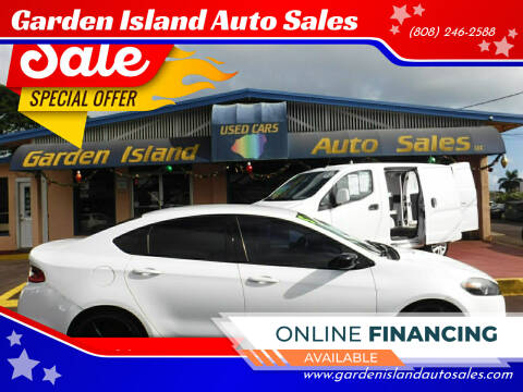 2015 Dodge Dart for sale at Garden Island Auto Sales in Lihue HI