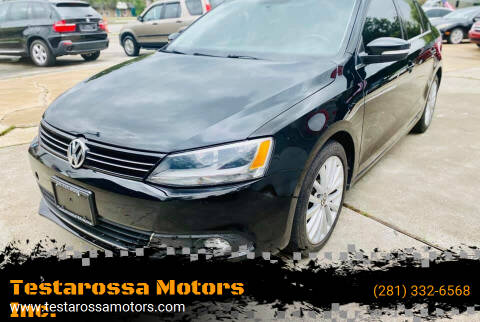 2011 Volkswagen Jetta for sale at Testarossa Motors Inc. in League City TX