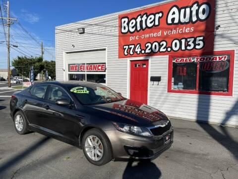 2011 Kia Optima for sale at Better Auto in Dartmouth MA