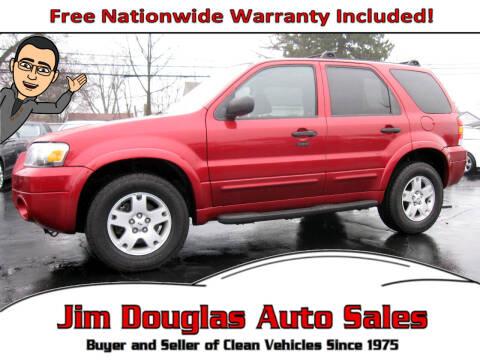 2007 Ford Escape for sale at Jim Douglas Auto Sales in Pontiac MI