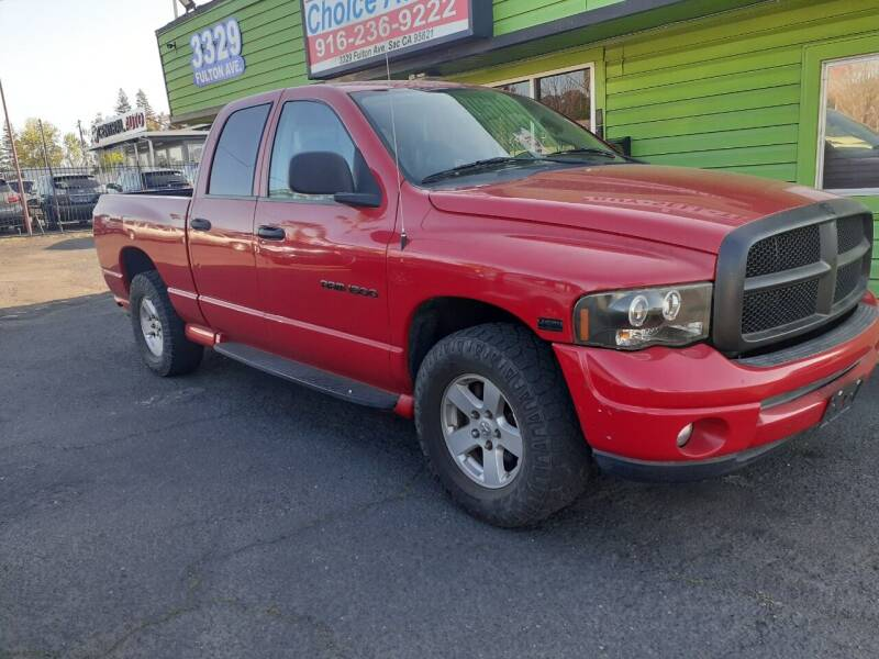 2003 Dodge Ram Pickup 1500 for sale at Amazing Choice Autos in Sacramento CA