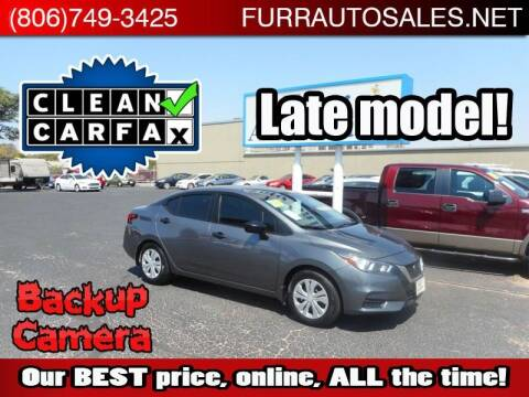 2020 Nissan Versa for sale at FURR AUTO SALES in Lubbock TX