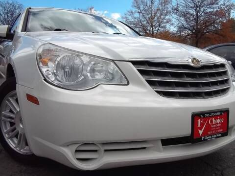 2007 Chrysler Sebring for sale at 1st Choice Auto Sales in Fairfax VA