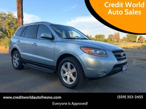 2008 Hyundai Santa Fe for sale at Credit World Auto Sales in Fresno CA
