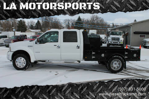 2005 Ford F-550 Super Duty for sale at LA MOTORSPORTS in Windom MN