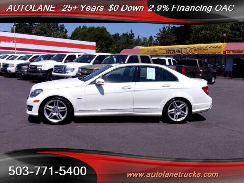 2012 Mercedes-Benz C-Class for sale at Auto Lane in Portland OR