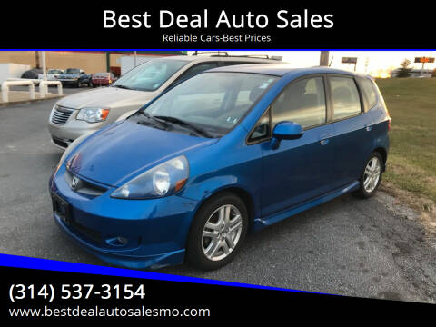 2007 Honda Fit for sale at Best Deal Auto Sales in Saint Charles MO