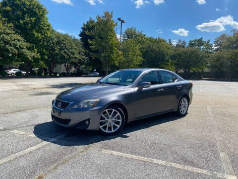 2012 Lexus IS 250 for sale at Uniworld Auto Sales LLC. in Greensboro NC