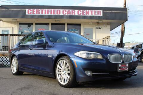 2011 BMW 5 Series for sale at CERTIFIED CAR CENTER in Fairfax VA